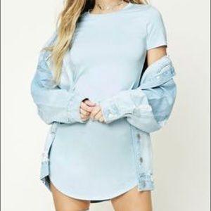 Baby Blue T Shirt Dress